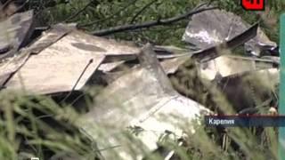 Катастрофа в Карелии. Разбился самолёт ТУ- 134.avi