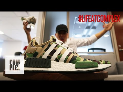WEARING FAKE BAPE x NMD's IN THE OFFICE | #LIFEATCOMPLEX (видео)