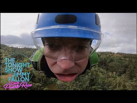 """Jimmy Freaks Out Riding Puerto Rico's """"Monster"""" Zip Line"""