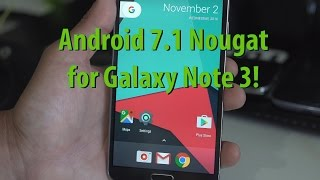 Here's a quick overview of Android 7.1 Nougat for Galaxy Note 3 running CM14.1 ROM. Runs near flawless, no problems whatsoever. Download & Details: http://ga...