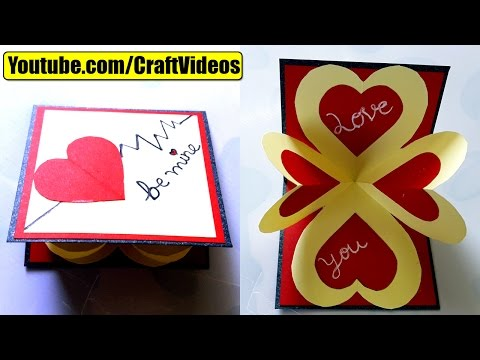 How to make pop up card I love you