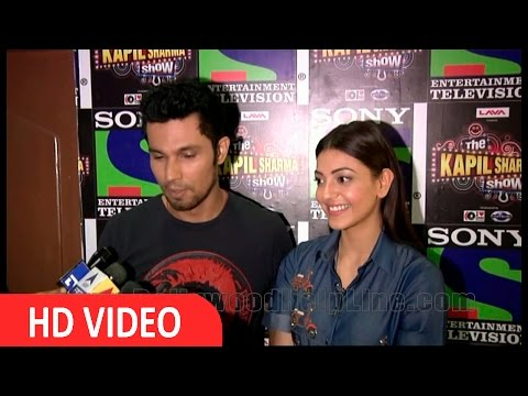 Randeep Hooda & Kajal Aggarwal Spotted At THE Kapil Sharma Show