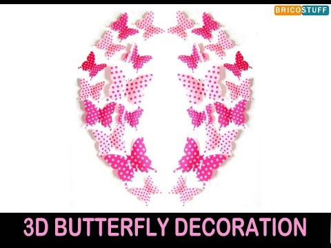 3D Butterfly Decoration Set