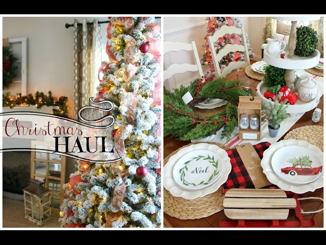 Christmas decor haul 2016 target dollar spot home goods new christmas tree Home decor home goods