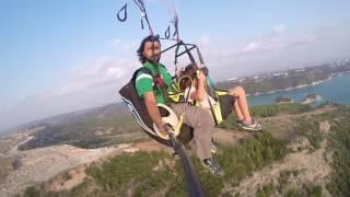 adana menekşe köyü  yamaç paraşütü tandem uçuşu