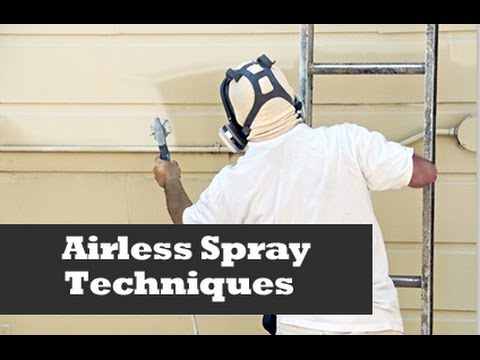 airless spray - A quick look at spraying cottage lap siding on a home with and airless sprayer. How the professionals spray siding. Tips to getting a professional looking jo...