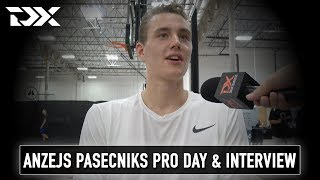 Anzejs Pasecniks NBA Pro Day Workout Video and Interview