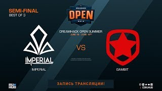 Imperial vs Gambit - DreamHack Open Summer - map2 - de_mirage [SleepSomeWhile, Anishared]