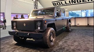 Bollinger B2 Electric Pickup Truck First Look (No Talking) by MilesPerHr