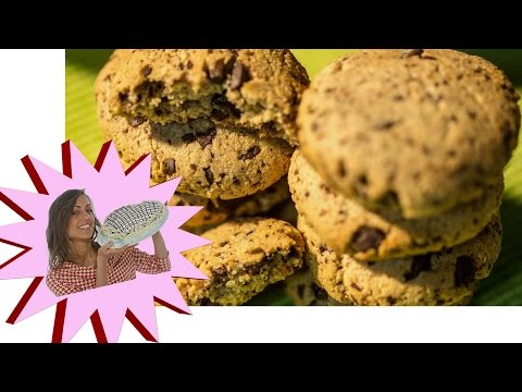 biscotti vegan e senza glutine alla nocciola e cioccolato