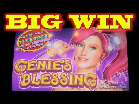 Genie's Blessing SUPER BIG WIN Las Vegas Slot Machine Winner