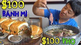 Video $100 DOLLAR Pho & $100 Bánh mì in Saigon Vietnam MP3, 3GP, MP4, WEBM, AVI, FLV Juni 2019