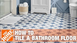 How To Tile a Bathroom Floor | The Home Depot