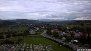 Czaszyn TimeLapse - widok na miejscowosc. Bieszczady timelapse -  26.07.2015.