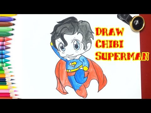 How to Draw Chibi Superman, Drawing for Children
