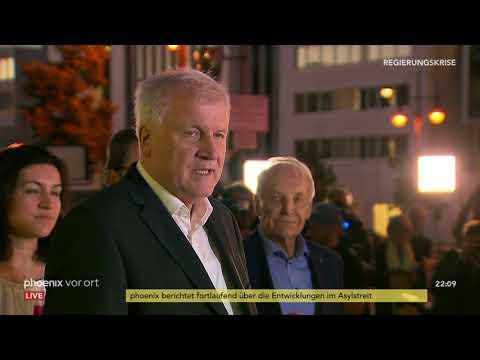 Horst Seehofer (CSU): Statement zum Ende des Unionsstre ...