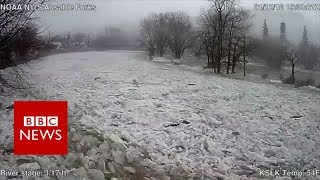 How An 'ice Jam' Caused River To Burst Banks In Minutes - BBC News