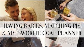 VLOGMAS | HAVING BABIES, MATCHING PJS & MY FAVORITE GOAL PLANNER | Natalie Elizabeth Ellis