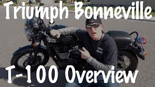 4. 2015 Triumph Bonneville T100 Review & Test Ride-Motorcycle Podcast