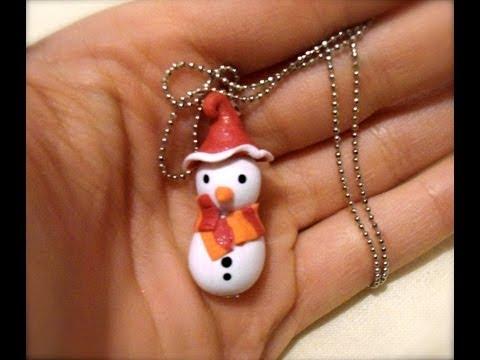 come creare uno pupazzo di neve in fimo - progetto natalizio