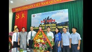 Đồng chí Nguyễn Mạnh Hà, Chủ tịch UBND thành phố chúc mừng các đơn vị ngành Than