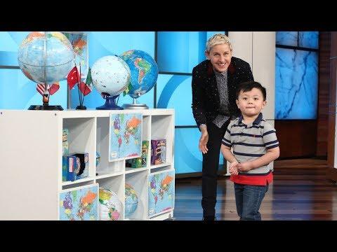 3-Year-Old Globe Expert Noah Ascano Impresses Ellen