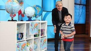 Video 3-Year-Old Globe Expert Noah Ascano Impresses Ellen MP3, 3GP, MP4, WEBM, AVI, FLV Januari 2019