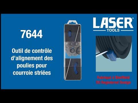 7644 Outil de contrôle d'alignement des poulies pour courroie striées