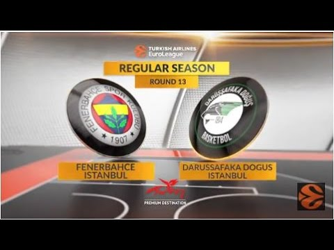 EuroLeague Highlights RS Round 13: Fenerbahce Istanbul 64-71 Darussafaka Dogus Istanbul