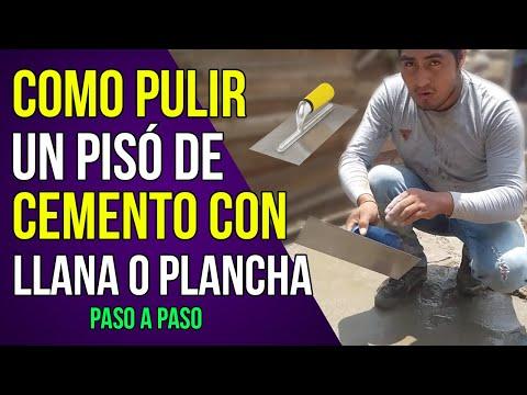 Cómo Pulir Un Piso De Cemento Con Llana o Plancha ( Pasó a Pasó )