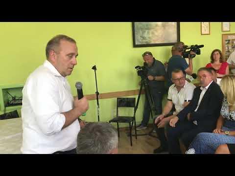 Wideo1: Grzegorz Schetyna na spotkaniu z mieszkańcami w Golaszynie