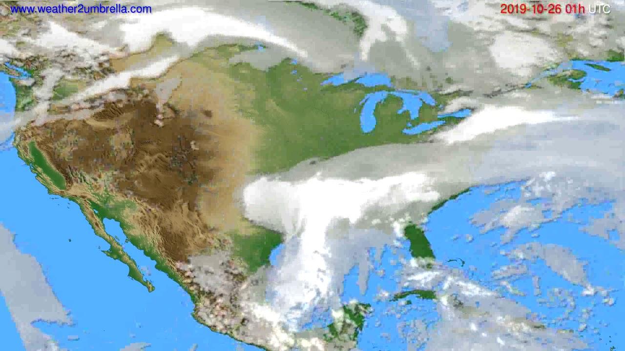 Cloud forecast USA & Canada // modelrun: 12h UTC 2019-10-24