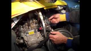 6. Ski-Doo MXZ 600 HO Adrenaline Carb Removal and Cleaning Part 1 of 2