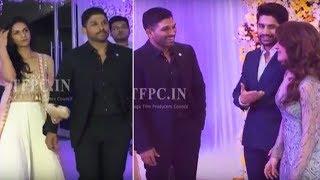 Video Stylish Star Allu Arjun @ ChaySam Wedding Reception | TFPC MP3, 3GP, MP4, WEBM, AVI, FLV November 2017