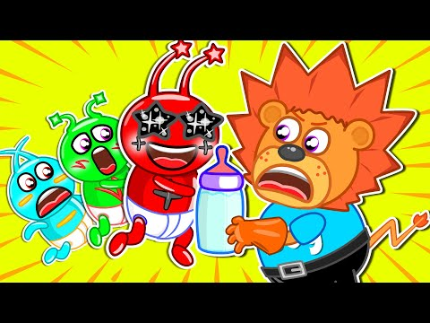 Pretend to Be a Parent for Alien #2 👾 Lion Family | Cartoon for Kids