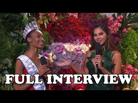 CATRIONA GRAY FULL INTERVIEW THE NEWLY CROWNED MISS SOUTH AFRICA LALELA MSWANE