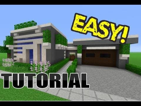 Minecraft Modern House Tutorial (PART 2)