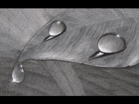 Cómo dibujar gotas de agua al carboncillo - Arte Divierte.