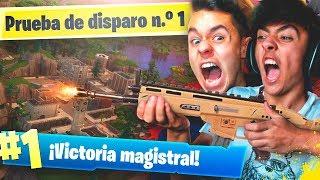 MI MEJOR PARTIDA en el NUEVO MODO de Fortnite: Battle Royale! - TheGrefg y Agustin51