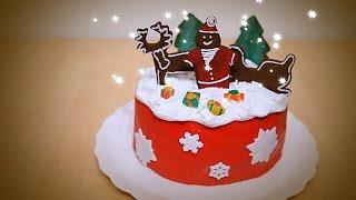 Decoração de bolo de Natal