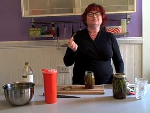 pickeled - Karen Solomon, author of JAM IT, PICKLE IT, CURE IT demonstrates how to make easy and delicious pickled green beans. The recipe can be used for all kinds of ...