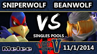 FPV - BeanWolf (Sheik) Vs. SniperWolf (Falco) SSBM Pools - Melee