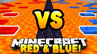 Minecraft - RED VS BLUE PARKOUR RACE! - w/ Preston & Kenny
