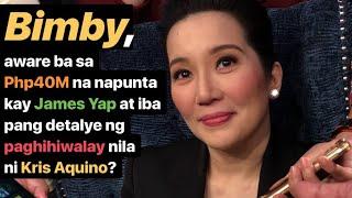 Video BIMBY, aware ba sa Php40M na napunta kay JAMES Yap + ibang detalye ng hiwalayan nila ni KRIS Aquino? MP3, 3GP, MP4, WEBM, AVI, FLV Agustus 2018