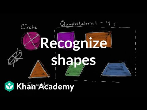 Recognizing Shapes Video Shapes Khan Academy