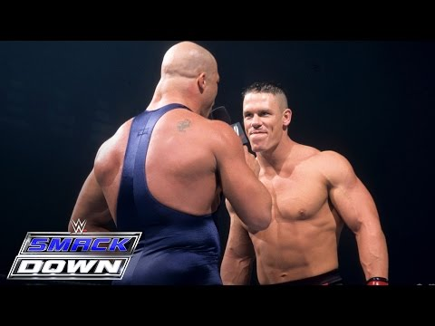 DEBUT - John Cena accepts Kurt Angle's open challenge to anyone he's never competed against - SmackDown, June 27, 2002 Subscribe Now - http://www.youtube.com/user/ww...