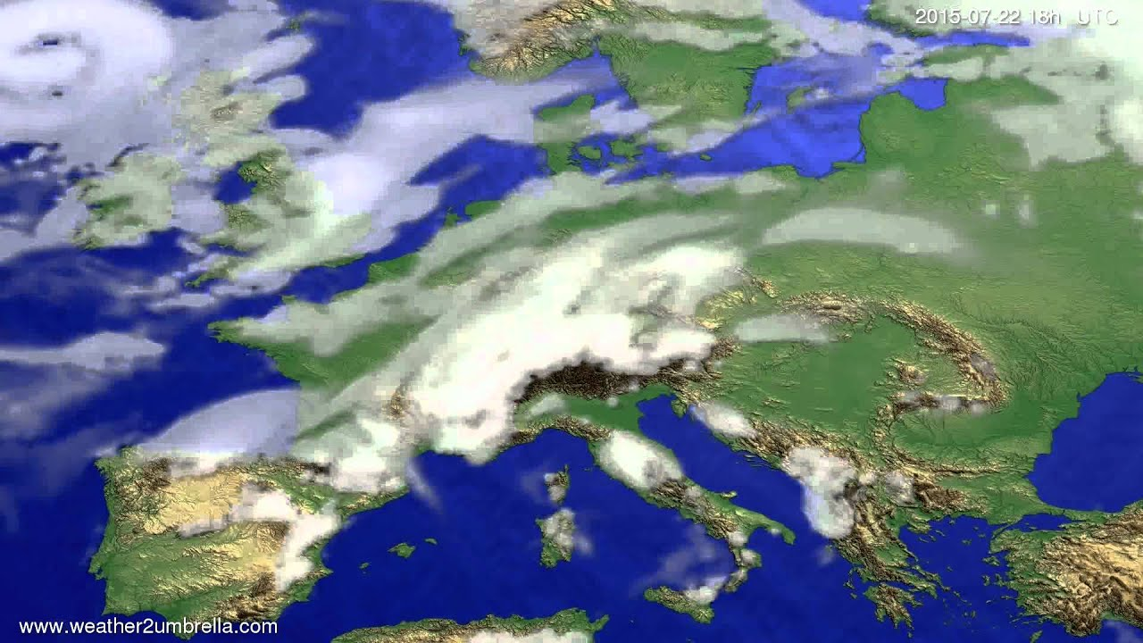 Cloud forecast Europe 2015-07-20