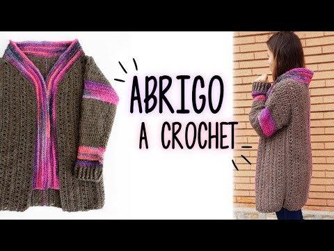 Cómo tejer ABRIGO FACIL a crochet | AHUYAMA CROCHET