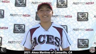 2021 Alexa Martinez Third Base Softball Skills Video - ACES
