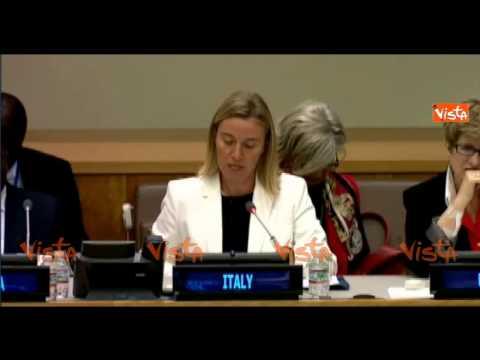 New York Mogherini l' intervento sui diritti delle donne all' ONU (Agenzia Vista)